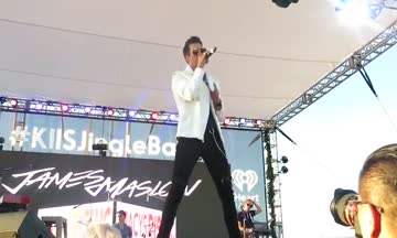 James Maslow KIISFM Jingle Ball Village
